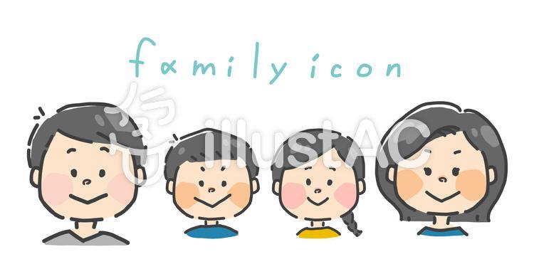 家族 イラストセットのイラスト