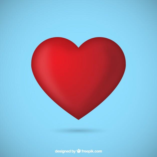 Red heart Free Vector