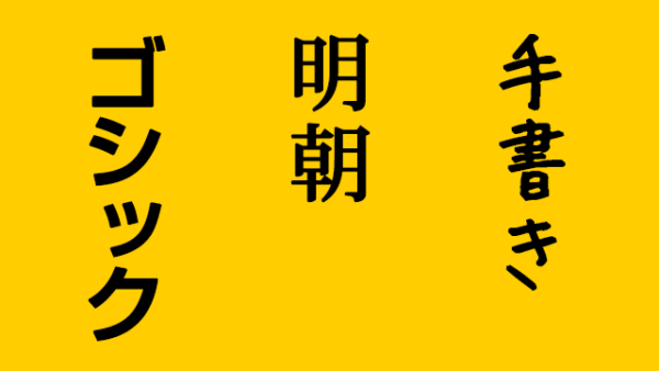 フォントの種類